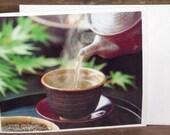 JAPANESE  Tea  HOJI CHA  plus Card Under 5 Dollars
