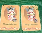 6 CHRISTMAS Gift TAGS  Large With Magnets c1