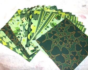 St. Patricks Day Paper Set  24 Sheets   6 x 6