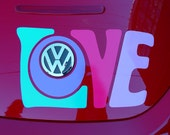 LOVE vinyl decal automotive graphic sticker for VW beetle trunk