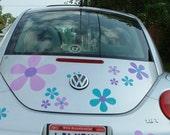 Hippie Flower Decal Stickers by Tonyabug Sticker Momma