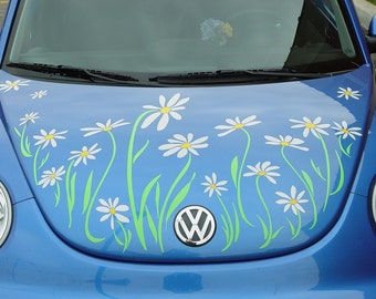 Daisy Decal vinyl sticker graphics-- Volkswagen Beetle Hood by Tonyabug Sticker Momma