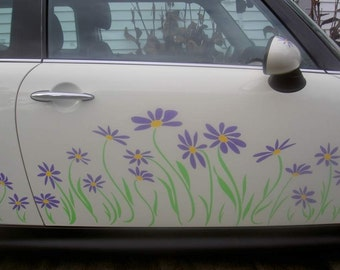 Daisy Decal Vinyl Stickers for Mini Coopers by Tonyabug Sticker Momma