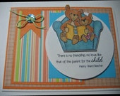 Spring Sale Happy Fathers Day To The Best Dad Handmade Card