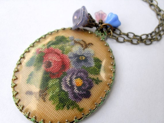 Petit Point Pendant Necklace
