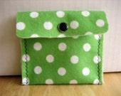 Green Polka Dot Pouch