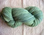Hand dyed sock yarn in Sea Grass