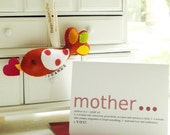 DEAR MOM Personalized Gift Keepsake Bird and Note Card (limited edition) - unique memorable handmade ornament for Mother's Day