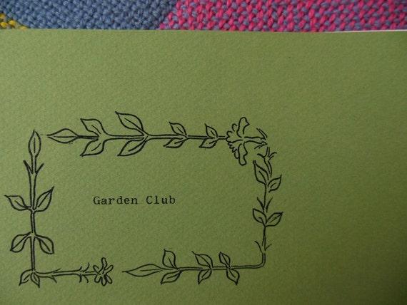 Garden Club zine