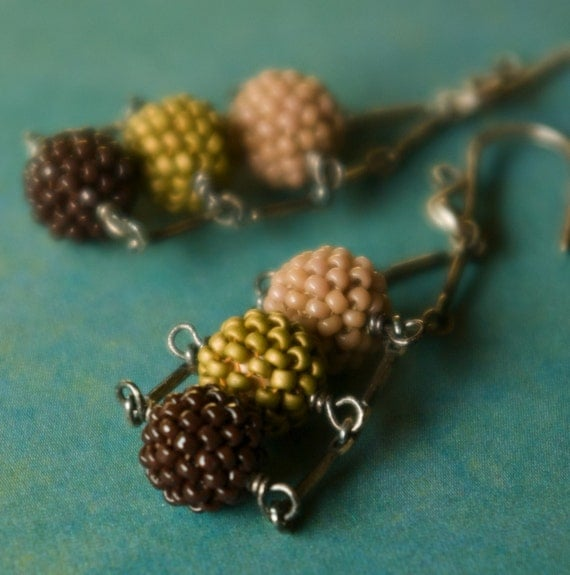 Three Dot Ladder Earrings - The Sands