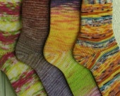 Socks Knit from Your Yarn  - Handmade to fit shoe sizes - Great gift, sock weight yarn only.