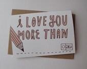 I love you more than..