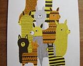 alpaca screen print