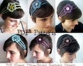 Crochet Flower Headband for Women and Children PATTERN Instant Download