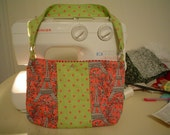 Scraps purse- pink and green
