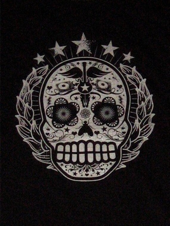 Sugar Skull Day of the Dead Ladies Tee  U Pick the size