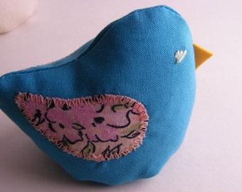 Plush Bird - Little Bean Bird named Blue Raspberry