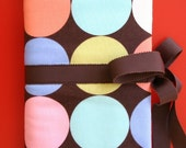 RESERVED FOR NSAHI - straight and circular knitting needle case retro dots