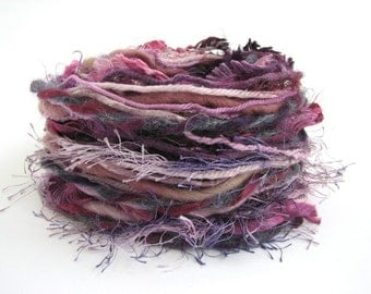 Creative Yarn Inspiration Pack,  Passionate Purples, 30 metres assortment, lilac, violet, lavender, trim, collage, embroidery