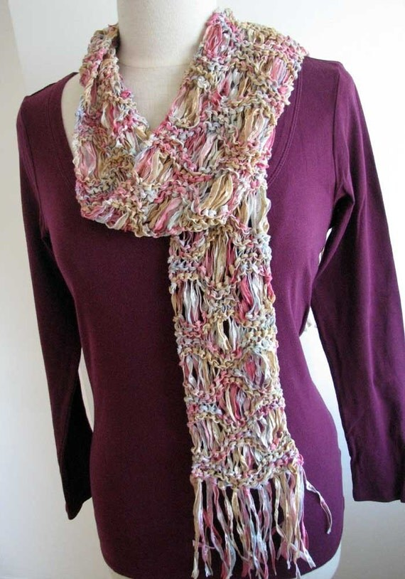 Ripple Stitch Knitting Pattern Scarf : Easy knit scarf printable pattern pdf, Ripple scarf, drop stitch scarf, Colin...