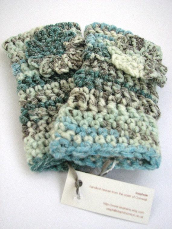 Crochet Pattern Notation : Chunky Fingerless Mitts Crochet Pattern PDF, easy written ...