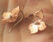 Copper Blooms Flower Earrings - Handmade with Sterling Posts or Hooks - Made to order