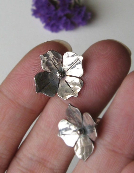 Blooms - Handcut Sterling Silver - Posts OR Hooks - Made to Order