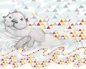 Otter Print- Ripple Gulf Oil Spill Fundraiser