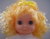 Vintage - Zims Cloth Full Body Doll - Blonde Curly Hair Doll