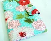 Nook Color, Nook Tablet Cover - Aqua Floral