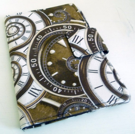 Kindle Fire Cover, Nook Cover - Spiral Steampunk Clocks
