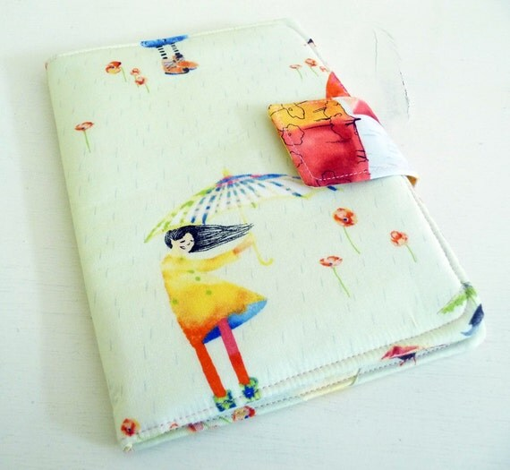 Kindle Touch Cover, Kobo Case - Rainy Spring Days, Pastel Colors