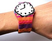 Colorful cute fabric watch