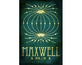 James Maxwell 12x18 Steampunk Science Art Poster, Rock Star Scientist Poster Scientific Diagram