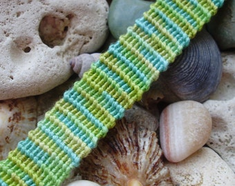 Green and blue variegated friendship bracelet