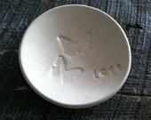 Handmade Ceramic Ring Dish Ring Bowl Engament Gift Wedding Gift Butterfly Love Jewelry Holder Trinket Dish