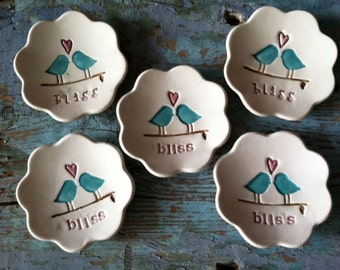 Bridesmaids Gift Dishes of 5 Bliss Ring Dishes