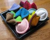 Dozen Felt Fortune Cookies by Sew Cute Sweets