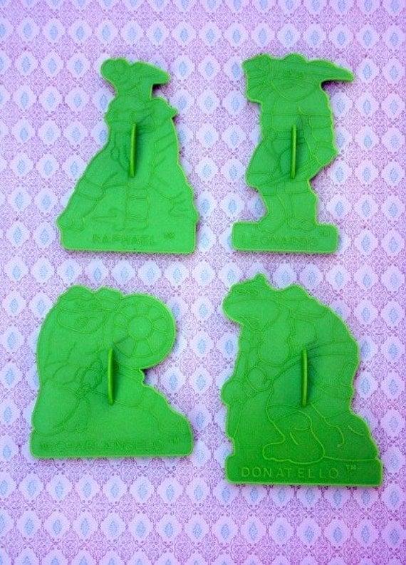Vintage Ninja Turtle cookie cutters