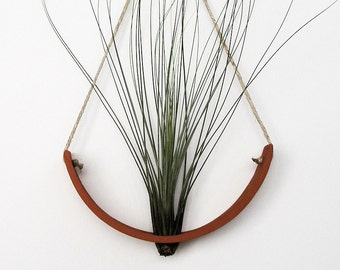 Hanging Air Plant Cradle (tm) - Natural TerraCotta Wall Planter Vase