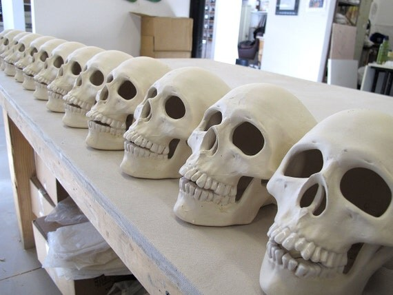 super skull sale human skull halloween decoration realistic ceramic votive second sale - Ceramic Halloween Decorations
