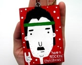 Cyber Monday Sale Take 10% Off - BARRY - The Rockin Christmas Ornament