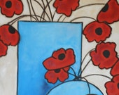 Red Poppies, RESERVED for Joanne