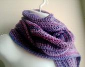 Purple Scarf Striped Extra Long Lavender Iris JOSI