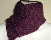 SAM- Cashmere Blend Ribbed Men's\/Unisex Scarf In Plum Purple