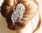Vintage Bridal Hair Comb, Crystal Wedding Hair Piece, Art Deco Hair Comb, Bridal Hair Accessories, BRIDGETTE