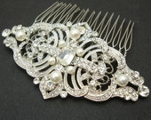 Vintage Style Bridal Hair Comb, Wedding Hair Comb, Wedding Bridal Hair Accessories, Art Deco Wedding Headpiece, REGINA