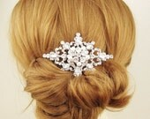 Bridal Hair Comb, Vintage Style Rhinestone & Pearl Wedding Hair Comb, Wedding Bridal Hair Accessories, Victorian Style, MARIANNE