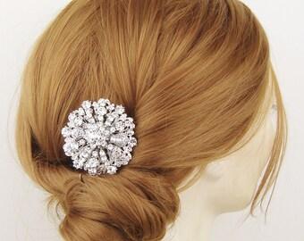 HALF PRICE Sale- Art Deco Wedding Hair Comb, Crystal Bridal Hair Comb, Vintage Wedding Hair Comb, Wedding Bridal Hair Accessory, HELENE