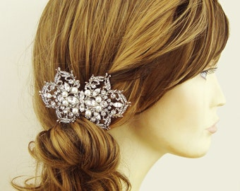 Pearl Bridal Hair Comb, Wedding Hair Comb, Vintage Style Wedding Bridal Accessories, Filigree Hair Comb,  SHANNON